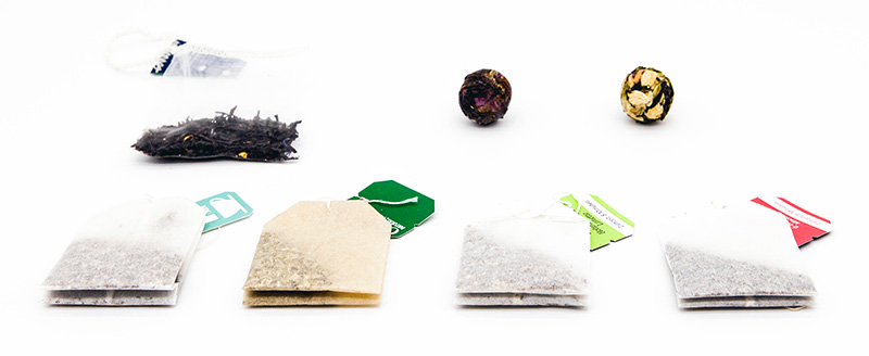 Tea Bags, Pressed Tea and Loose Leaf Tea